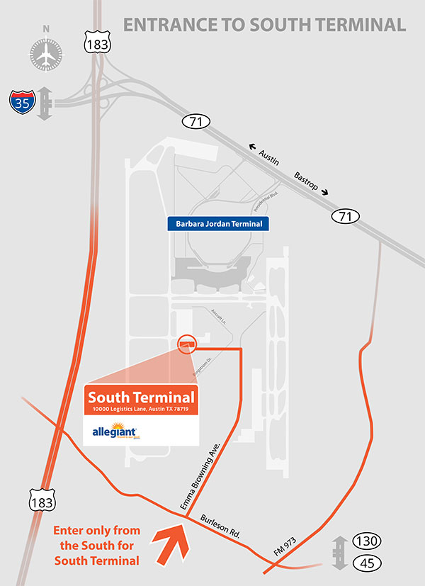 Austin Airport Terminal Map Austin Bergstrom International Airport   South Terminal