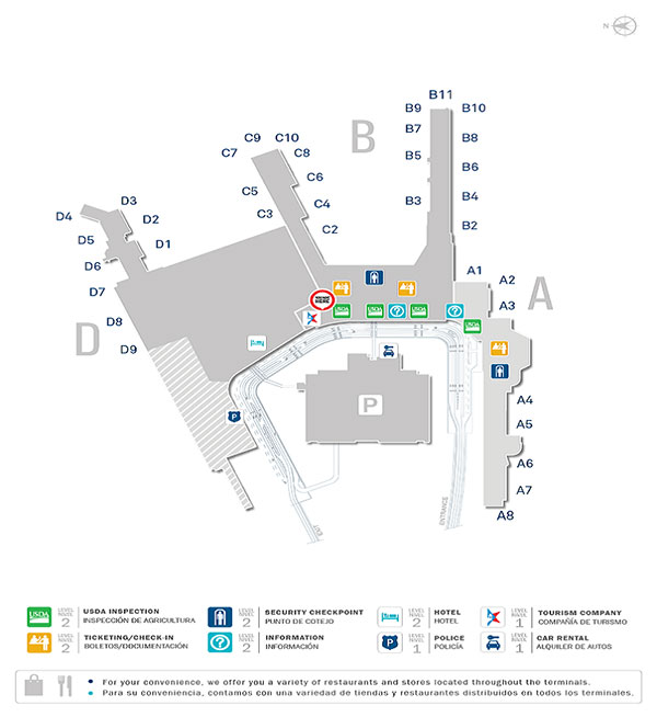San Juan Airport Map Luis Munoz Marin International Airport | Allegiant Air