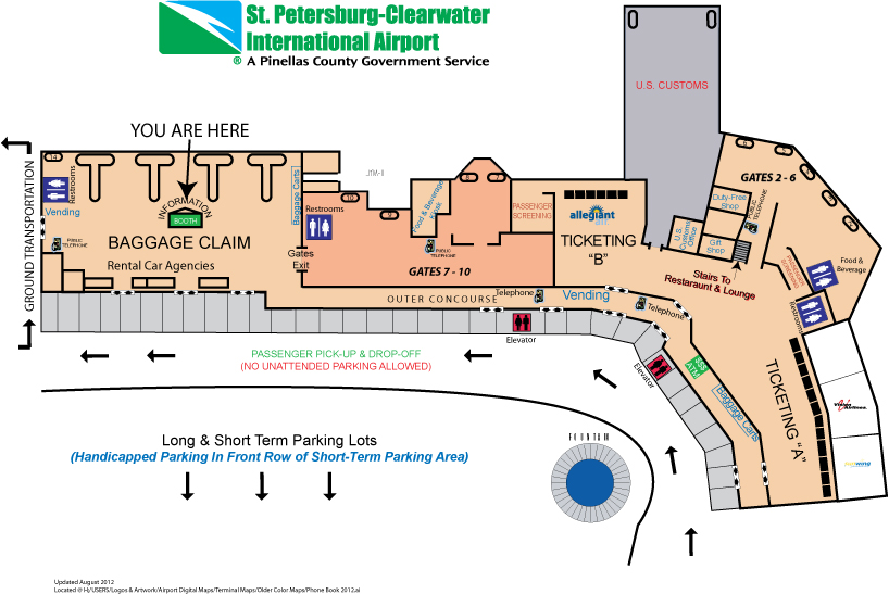 St. Pete-Clearwater International Airport (PIE) Terminal Map