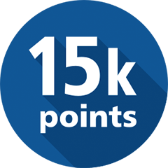 15000 points