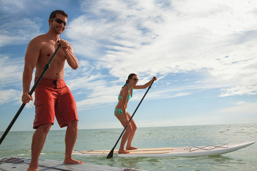 Stand-up Paddle Boarding Couple