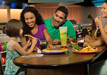 Family Dining at Galaxy Bowl