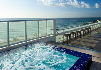 Oceanfront Jacuzzi at WET East