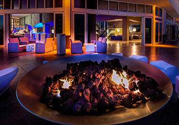 Living Room Night Club Terrace Fire Pit