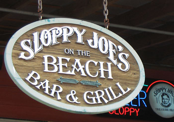 Sloppy Joe's Restaurant Sign