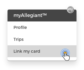 Second step from linking Allegiant World MasterCard