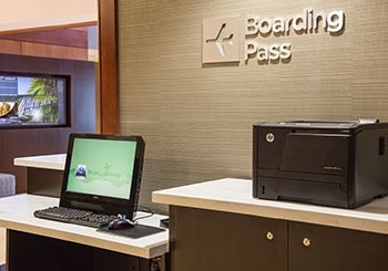 Lobby - Boarding Pass Station